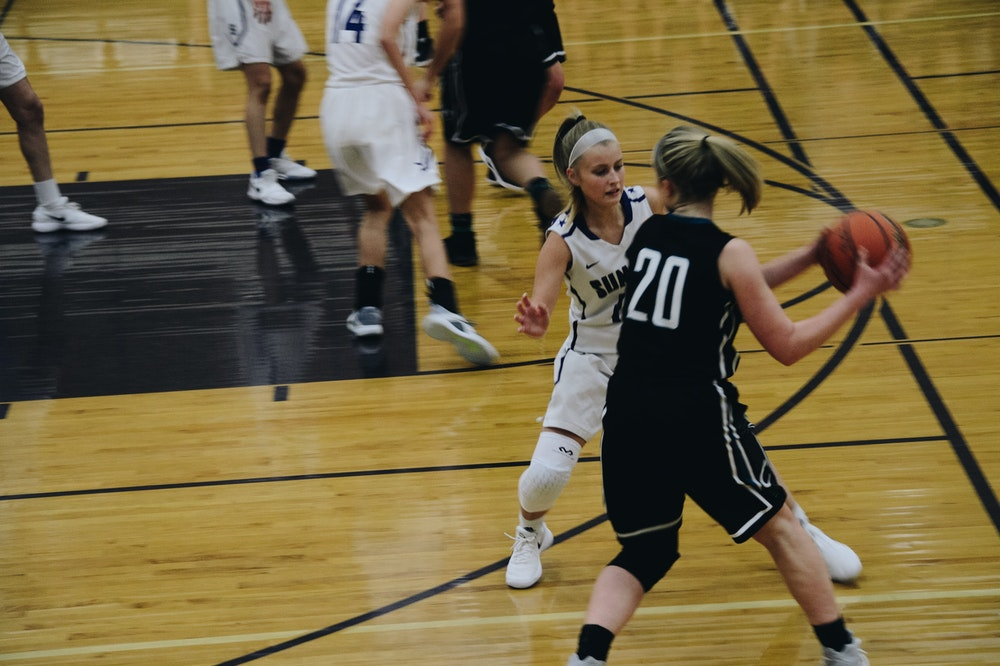 women's basketball shoes in action
